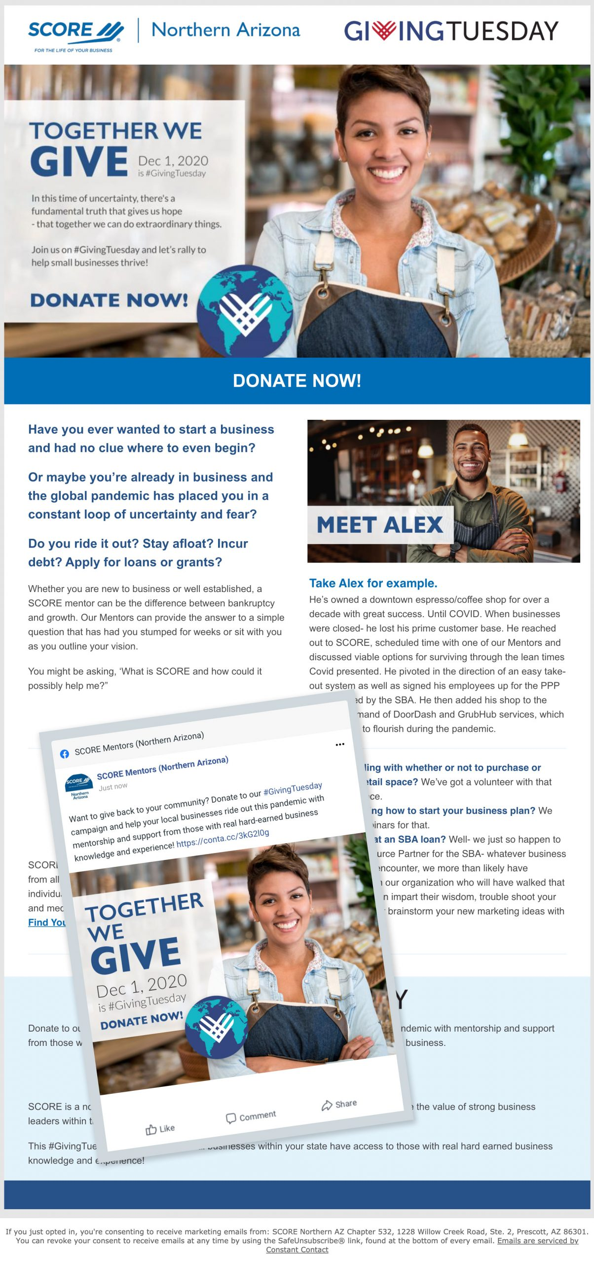 Giving Tuesday Campaign - Landing page & social post