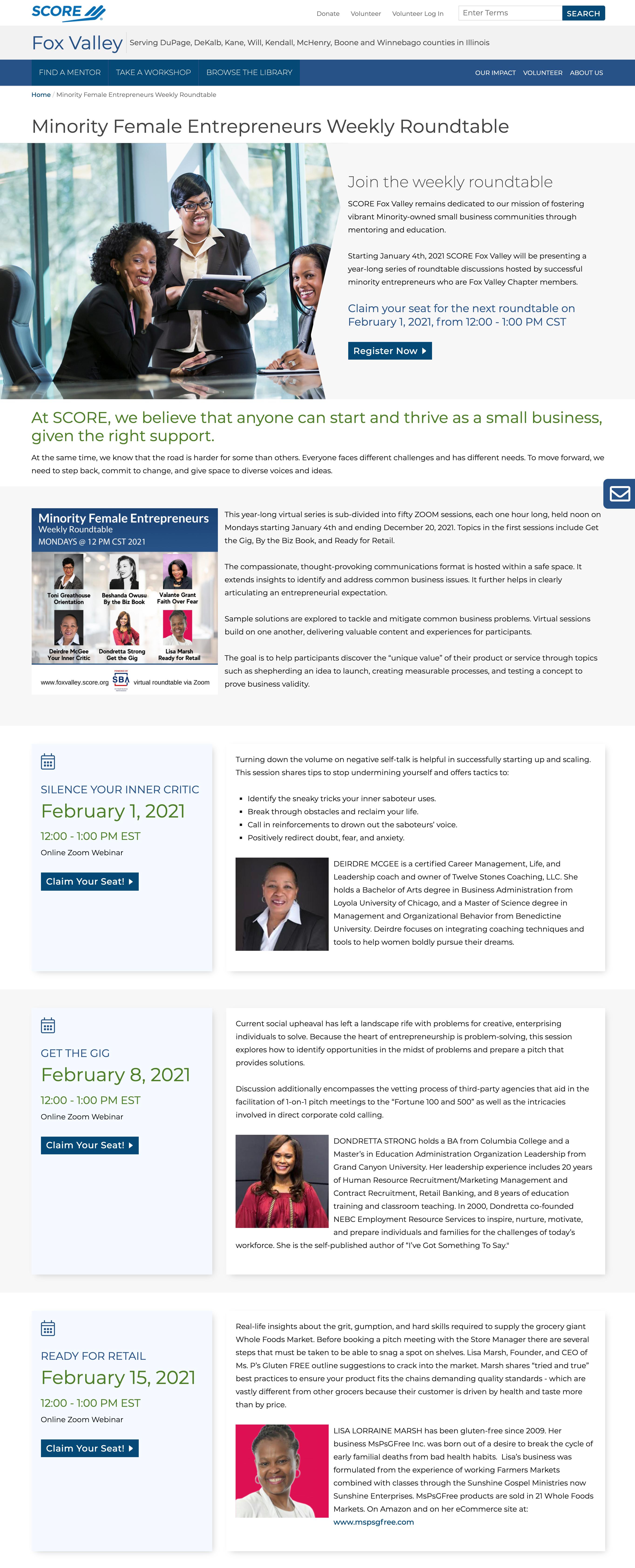 Minority Female Entrepreneur Roundtable